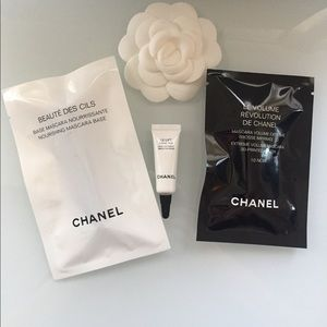 🌺 CHANEL mascara eye cream samples bundle NWT